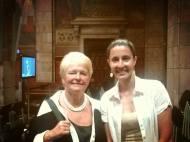 Con Gro Harlem Brundtland en la entrega del XXV Premi de Catalunya 2013.