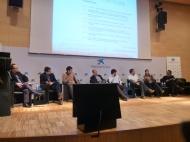 Con representantes de otros proyectos sobre cambio climático en sesión de Ideas de Ecotendencias organizado por La Obra Social LaCaixa 2013.